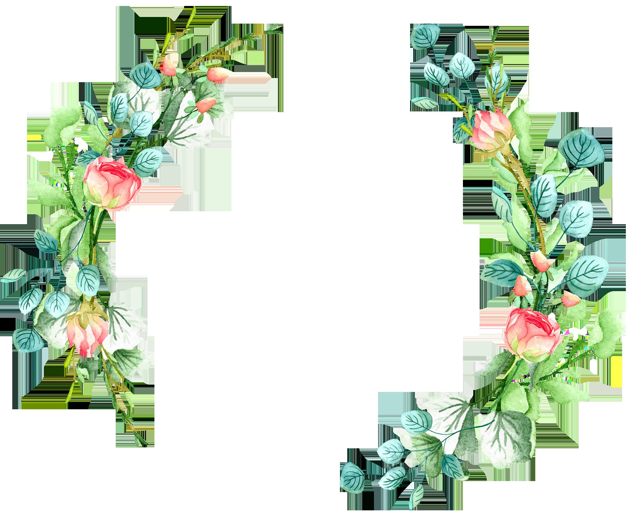logo in 2019 Flower wreath illustration, Wreath waterc