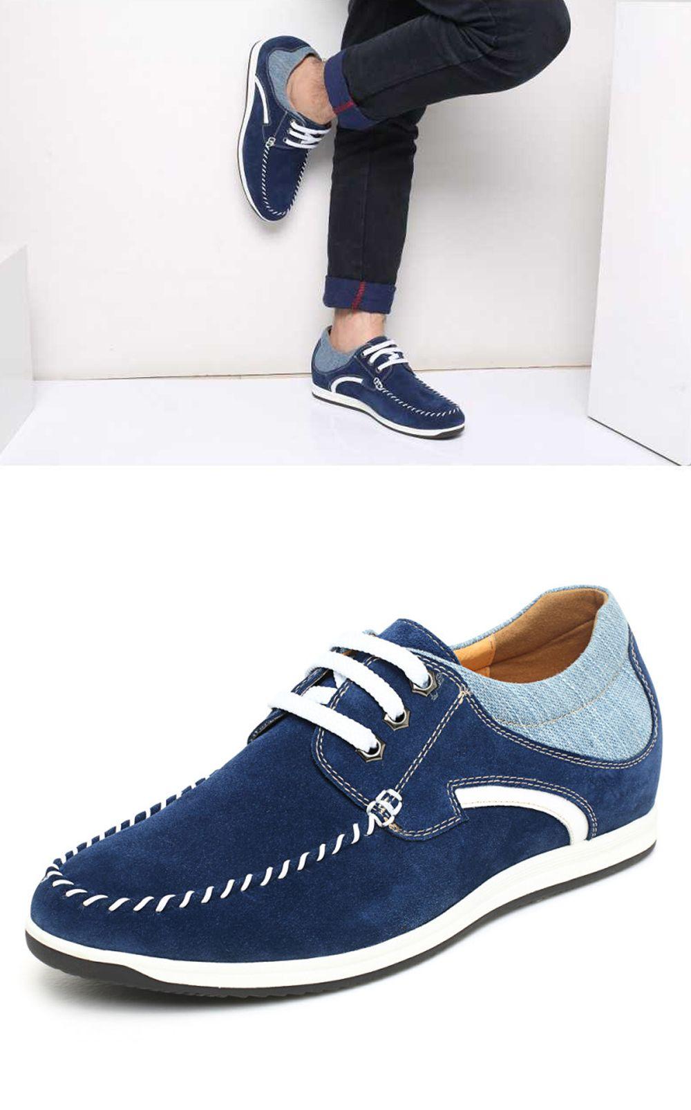 Meskie Buty Niebieskie Zamszowe Skorzane Podwyzszajace 6 Cm Faretti Lorenzo Codzienne Sneakersy Sneakers Shoes Tretorn Sneaker