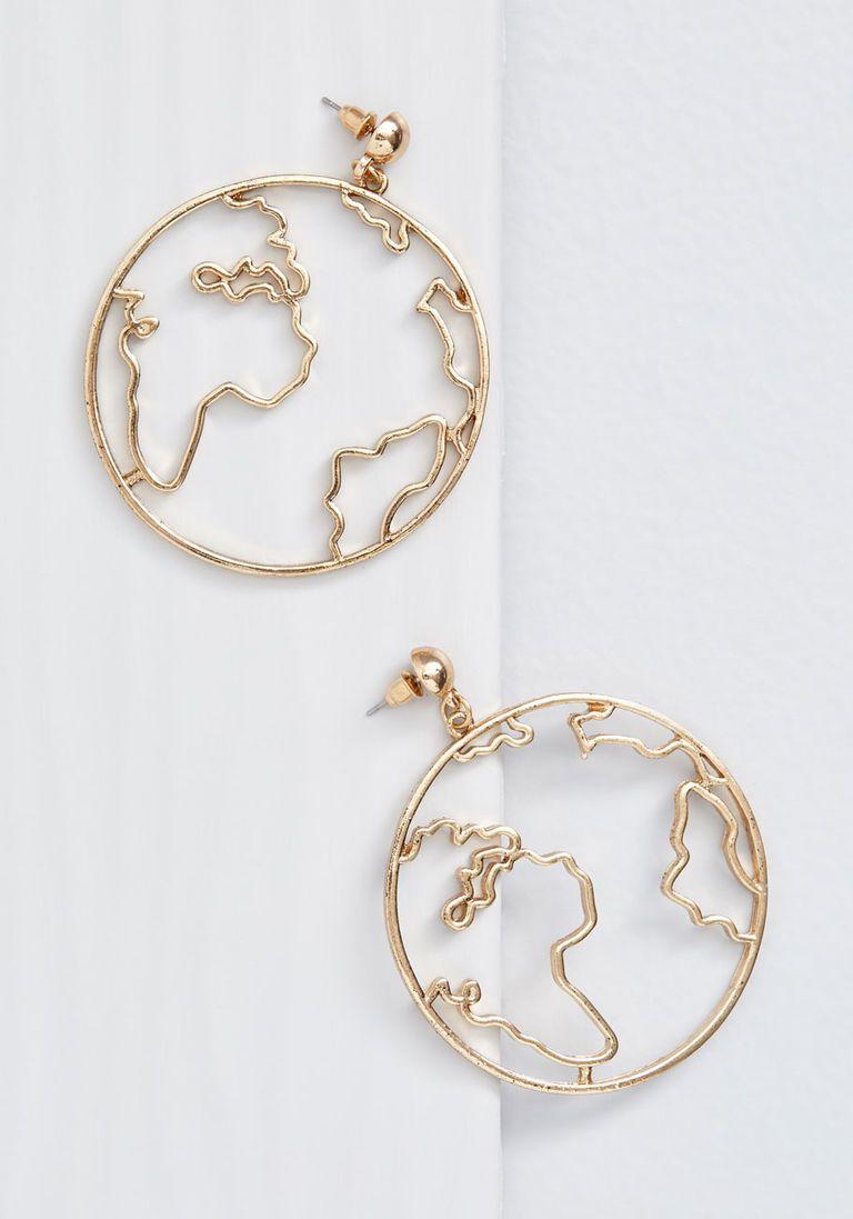 Run the World Globe Earrings