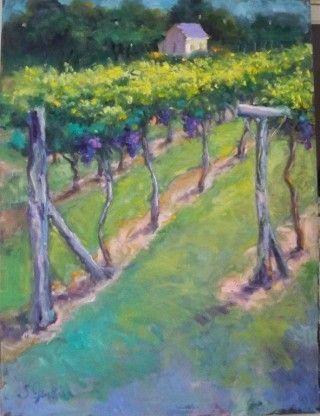 Susan Jenkins Oil Painting Vineyard