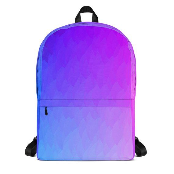 Purple Pink And Blue Ombr 233 Flames Backpack Purple