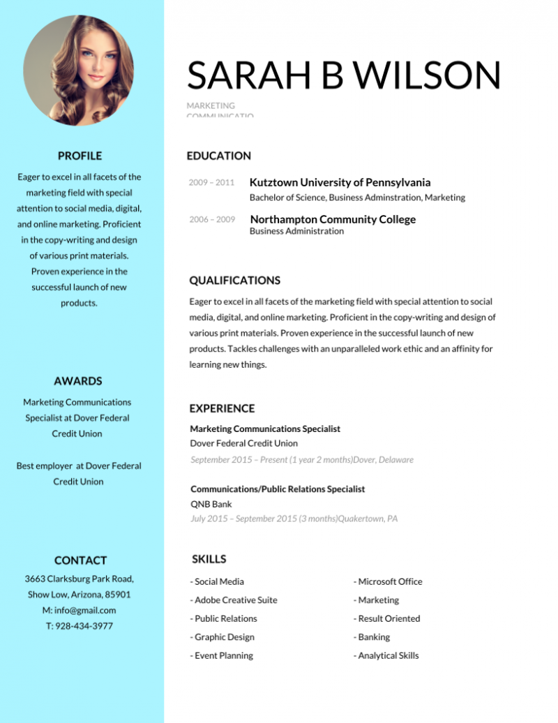 Amanda Resume/CV Template Word InDesign