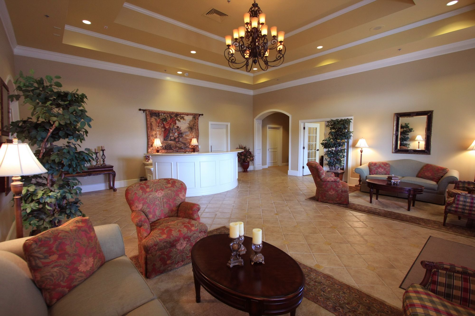 Funeral Home Interior Colors Décor Which Fit With The French Country Architecture