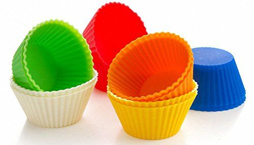 Cupcake Molds Silicone Baking Cups Muffin Cases Set Of 12 Reusable