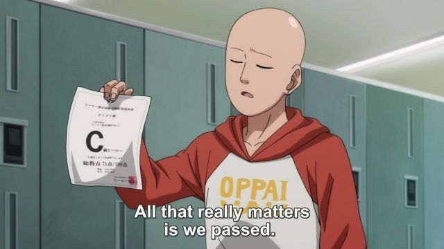 Words Of Wisdom One Punch Man One Punch Man Funny One Punch Man Anime One Punch Man