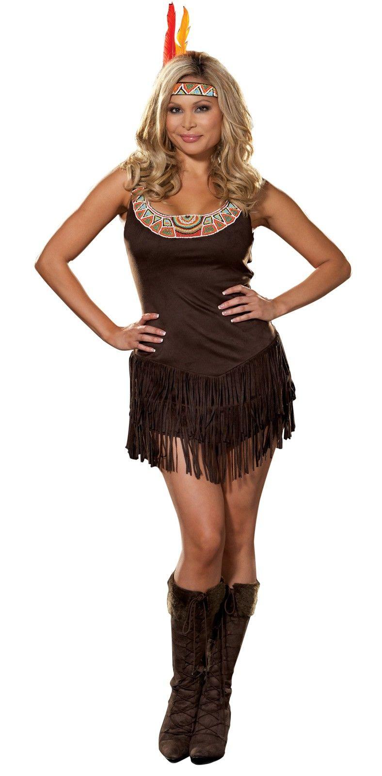 Pocahottie Adult Plus Womenu0027s Costume  sc 1 st  Pinterest & Pocahottie Adult Plus Womenu0027s Costume | Pocahontas Costumes ...