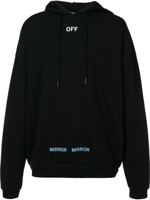 046b4d7be0ea Shop Off-White printed back hoodie.
