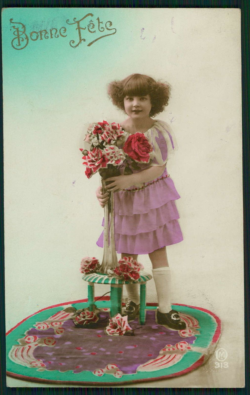 Deco Child Girl Glamour Fantasy Tinted Original Vintage 1920s Photo Postcard HT | eBay