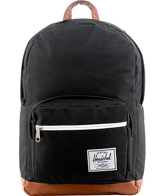 Herschel Supply Pop Quiz Black Backpack | The o'jays, Zippers and ...
