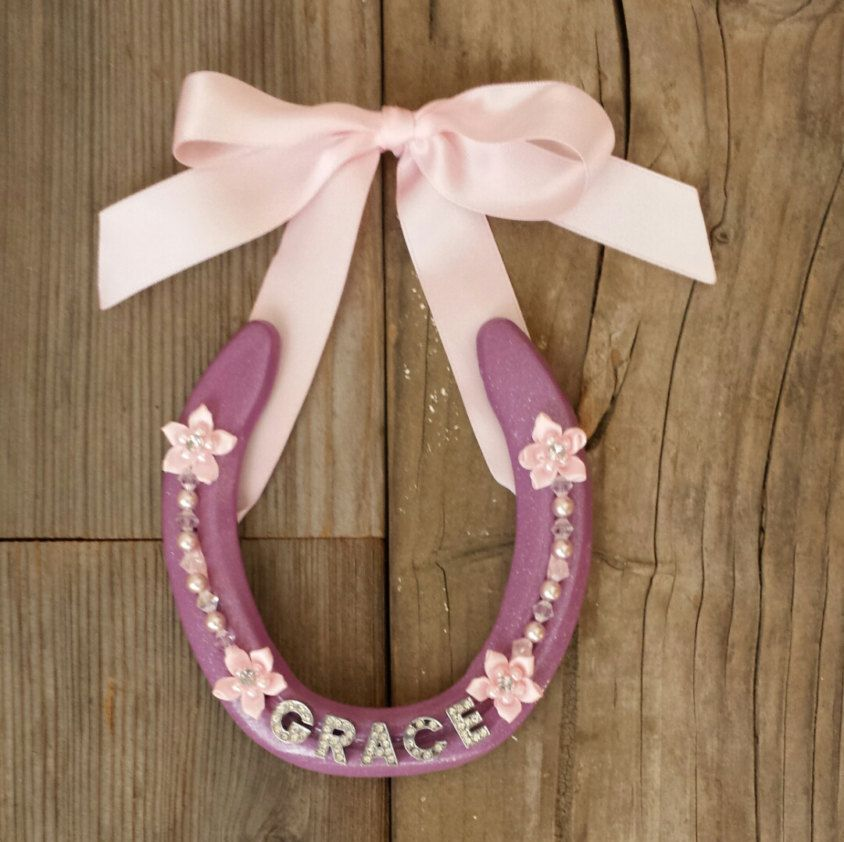 Decorated Used Horseshoe With Stars Western Decor By Dreamersgifts