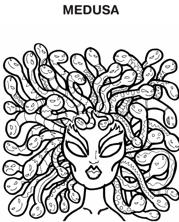 Medusa Hairs Of Snake Coloring Page Netart In 2020 Ancient Greece Greek Monsters Greek Mythology Lessons