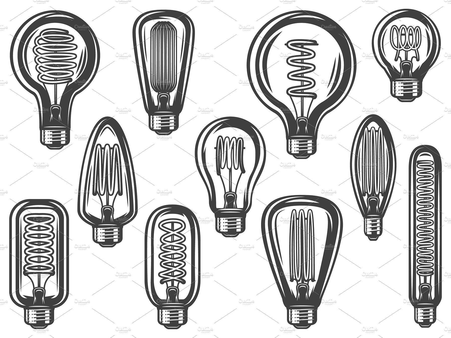 light bulb clip art Google Search Vintage light bulbs