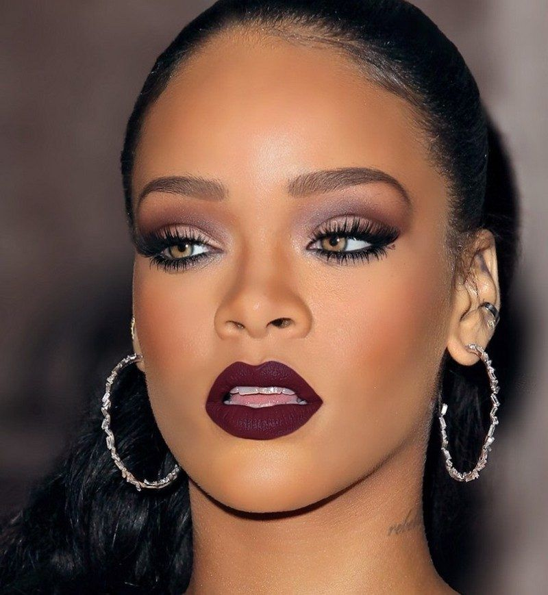 augen make up smokey eyes wie rihanna schminken make up pinterest. Black Bedroom Furniture Sets. Home Design Ideas