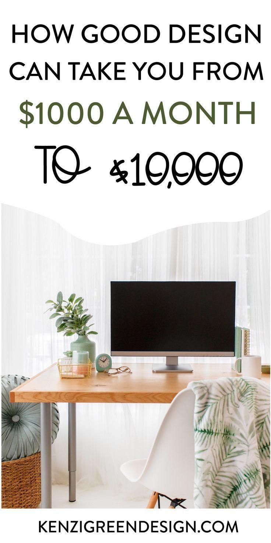 How Good Design Can Take You from $1,000 to $10,000 a Month — Kenzi Green Design | Brand Designer | Custom Website Design