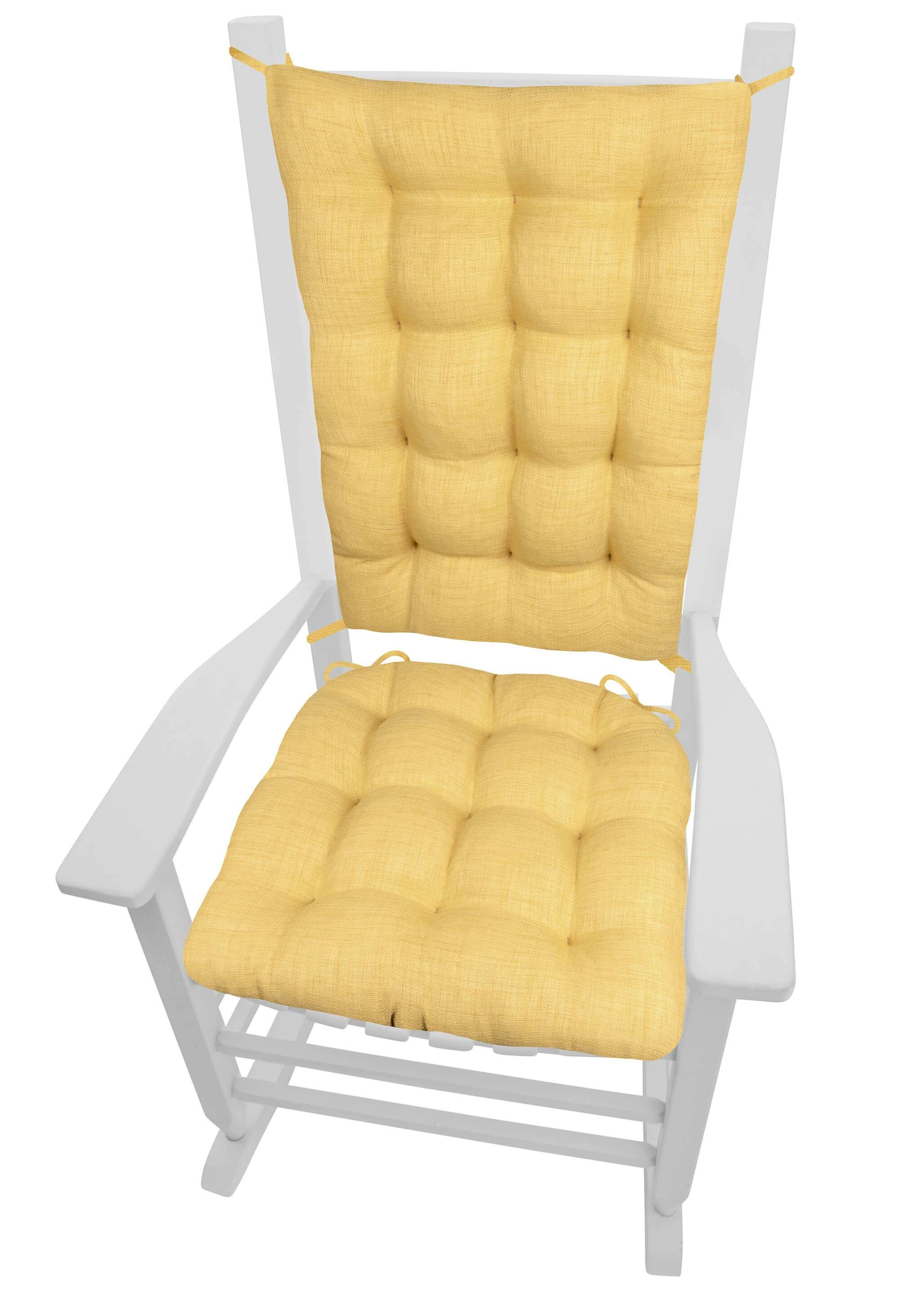 Strange Rave Yellow Gold Porch Rocker Cushions Latex Foam Fill Home Interior And Landscaping Dextoversignezvosmurscom
