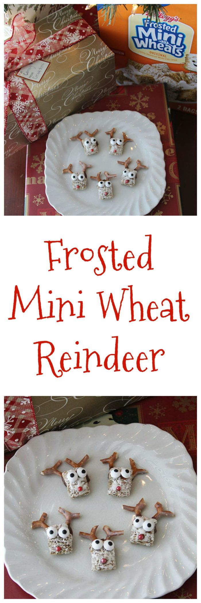 Frosted Mini Wheat Reindeer are an adorable, festive holiday treat using one of our favorite cereal!! #ad @kelloggs @samsclub #KelloggsCerealYourWay via @ruth_knudsen