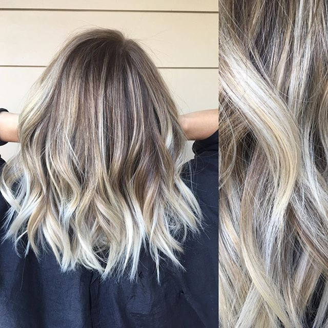 Icy blonde ends with a shadowed root ❤️ salondm3