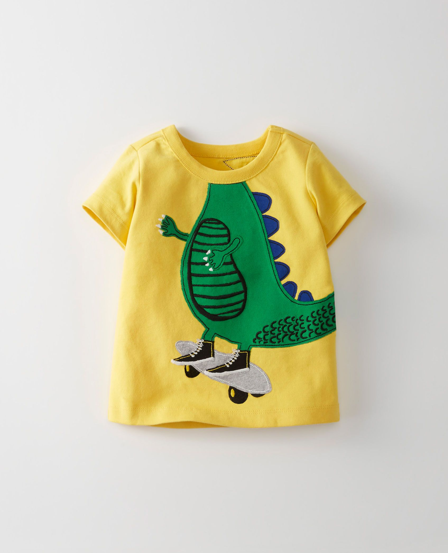 Appliqué Tee In Supersoft Jersey in Swedish Yellow main
