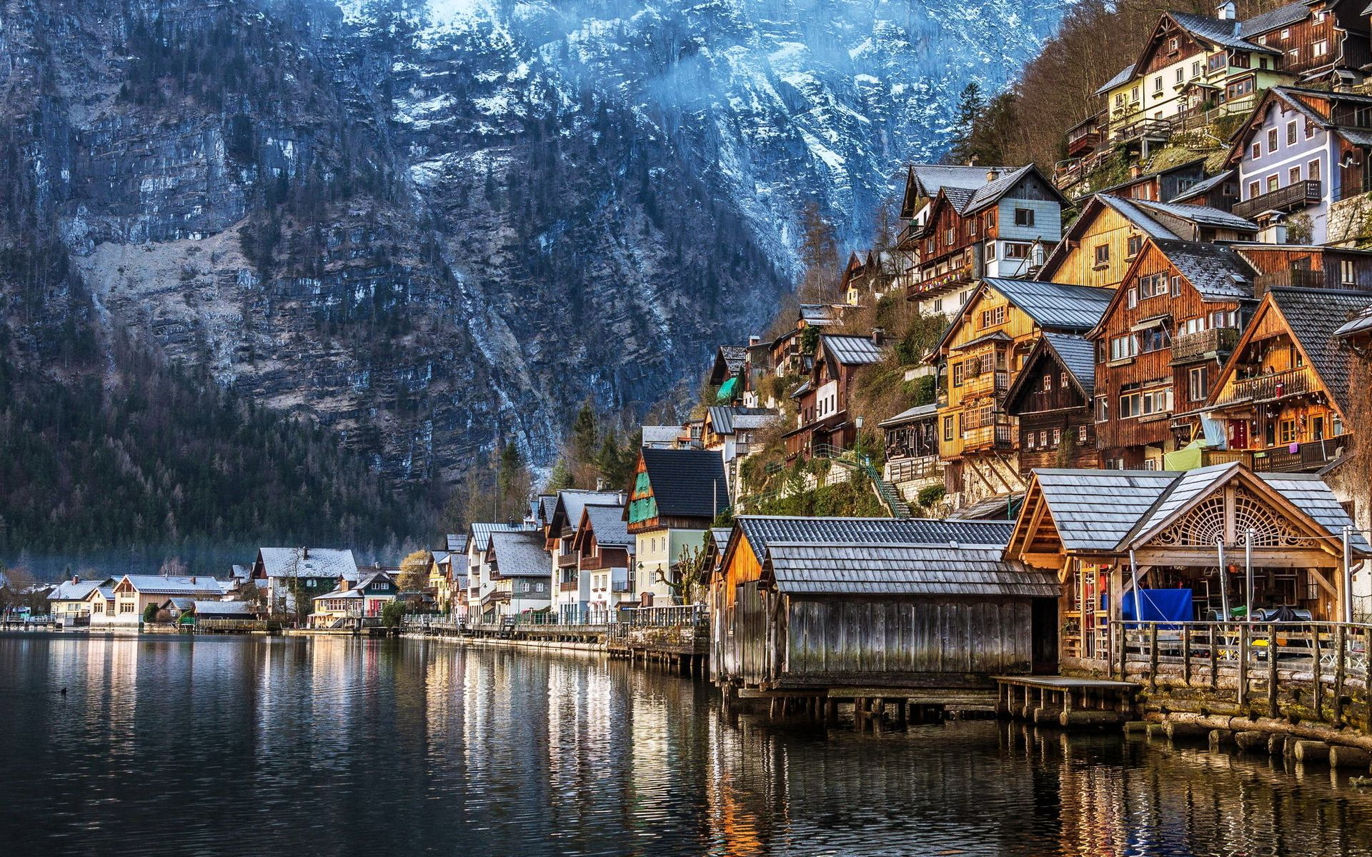 Hallstatt In Winter Austria Hd Wallpaper Lugares A Conocer Pinterest Beautiful 10 And