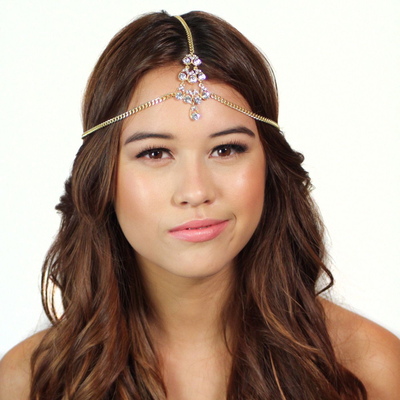 Gold Crystal Tikka Chain Headpiece by ShopKP on Etsy https://www.etsy.com/listing/157822361/gold-crystal-tikka-chain-headpiece