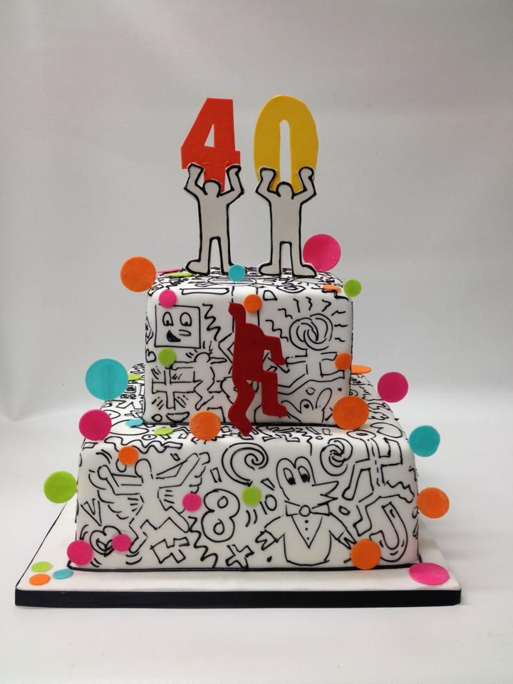 Keith Haring Birthday Cake Cake Decorating Pinterest Keith