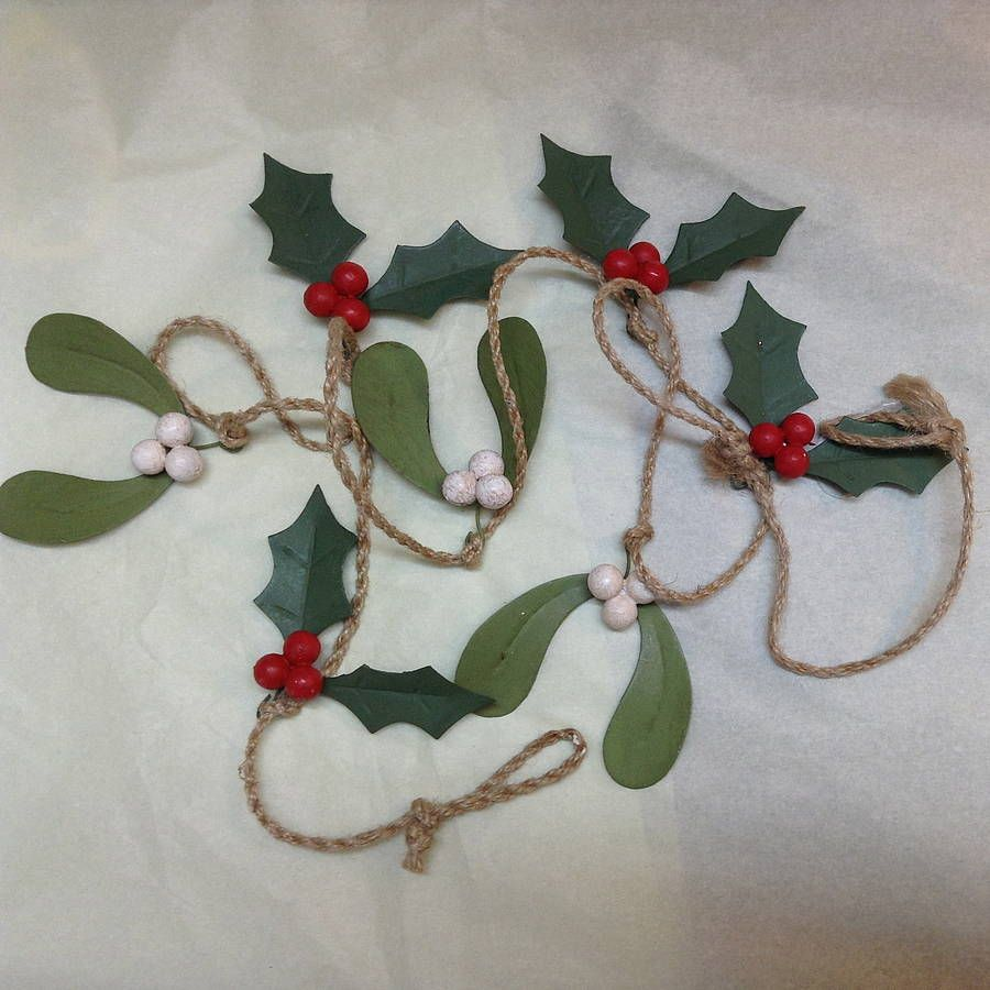 mistletoe and holly garland by velvet brown   notonthehighstreet.com   Christmas decorations ...