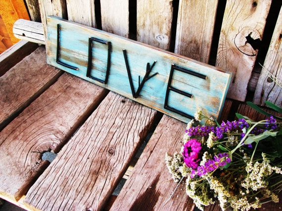Rustic Twig LOVE Sign Aqua Turquoise by WildRidgeDesign on Etsy  http://www.etsy.com/listing/79458759/rustic-twig-love-sign-aqua-turquoise?ref=tre-2016845133-4