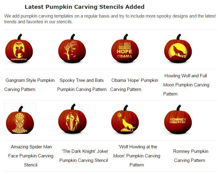 Clip Art And Templates For Halloween Pumpkin Carving Patterns
