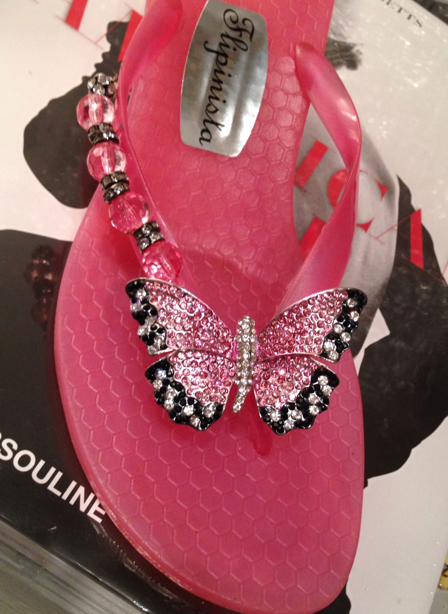 Pink Skies N Butterflies~Flipinista® 312.399.2468 for pricing and information or email info@flipinista.com