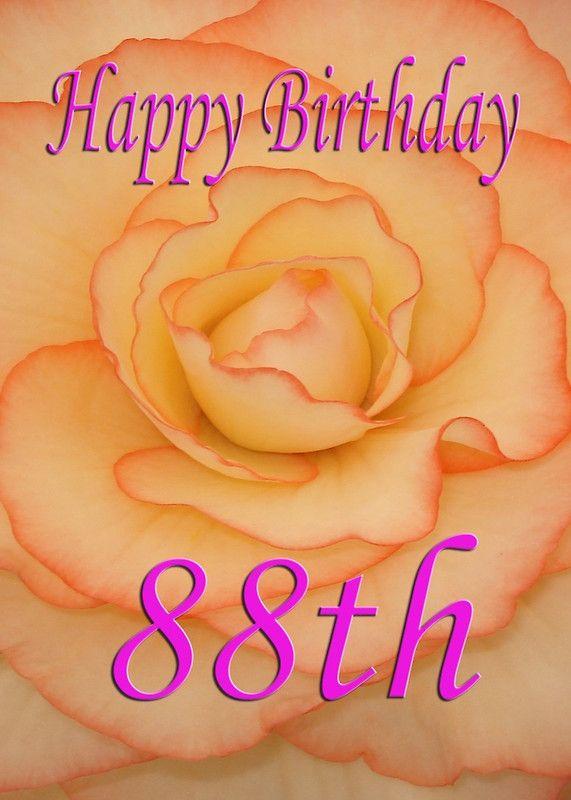 Happy 88th Birthday Flower