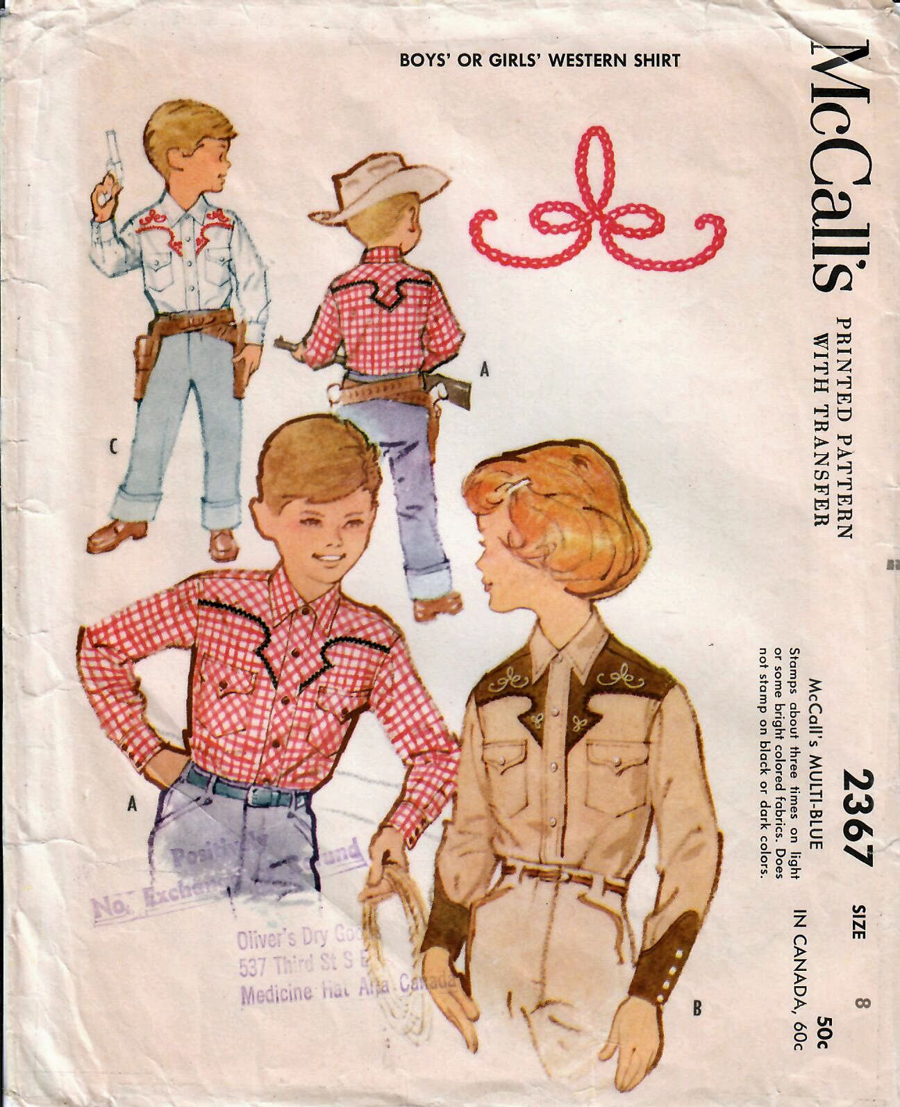 1950s mccalls 2367 vintage sewing pattern boys and girls western 1950s mccalls 2367 vintage sewing pattern boys and girls western shirt size 8 by midvalecottage on jeuxipadfo Images