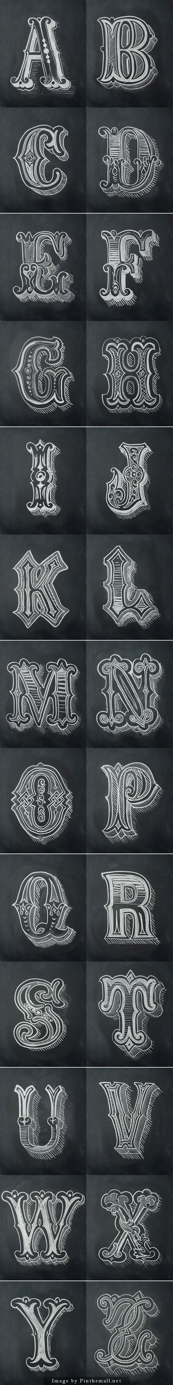 Chalk Alphabet by Antonio Rodrigues Jr    - a grouped images