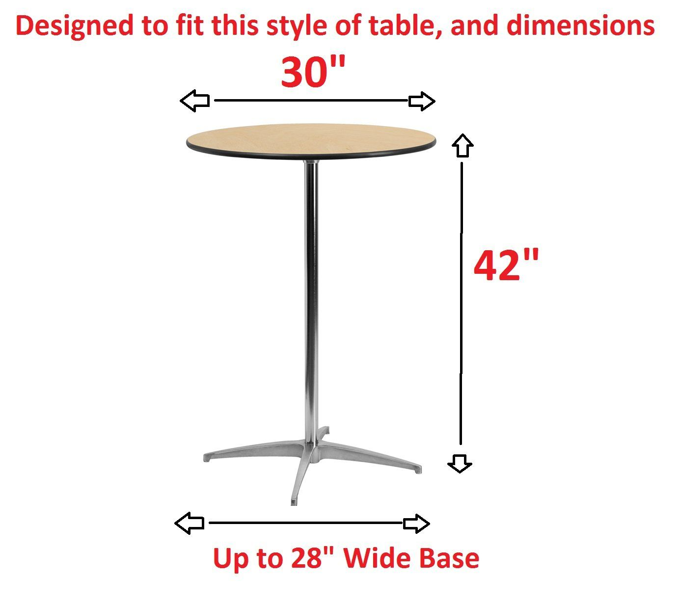 Banquet Tables Pro 30 Diameter X 42 Height White Spandex Highboy Table Cover Ad Diameter Sponsored Banquet Tables Table Covers Highboy Table Table