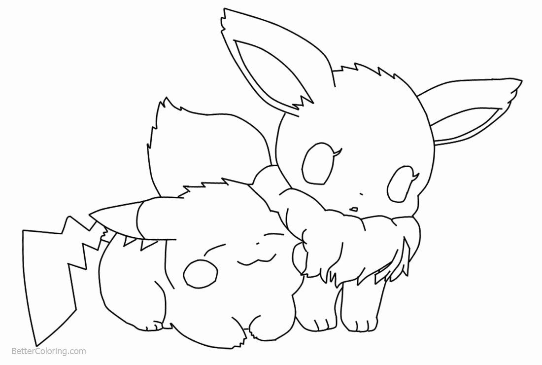 Eevee Evolutions Coloring Page Best Of Chibi Pikachu And Eevee Coloring Pages By Daredevil Free Prin In 2020 Chibi Coloring Pages Coloring Pages Pokemon Coloring Pages