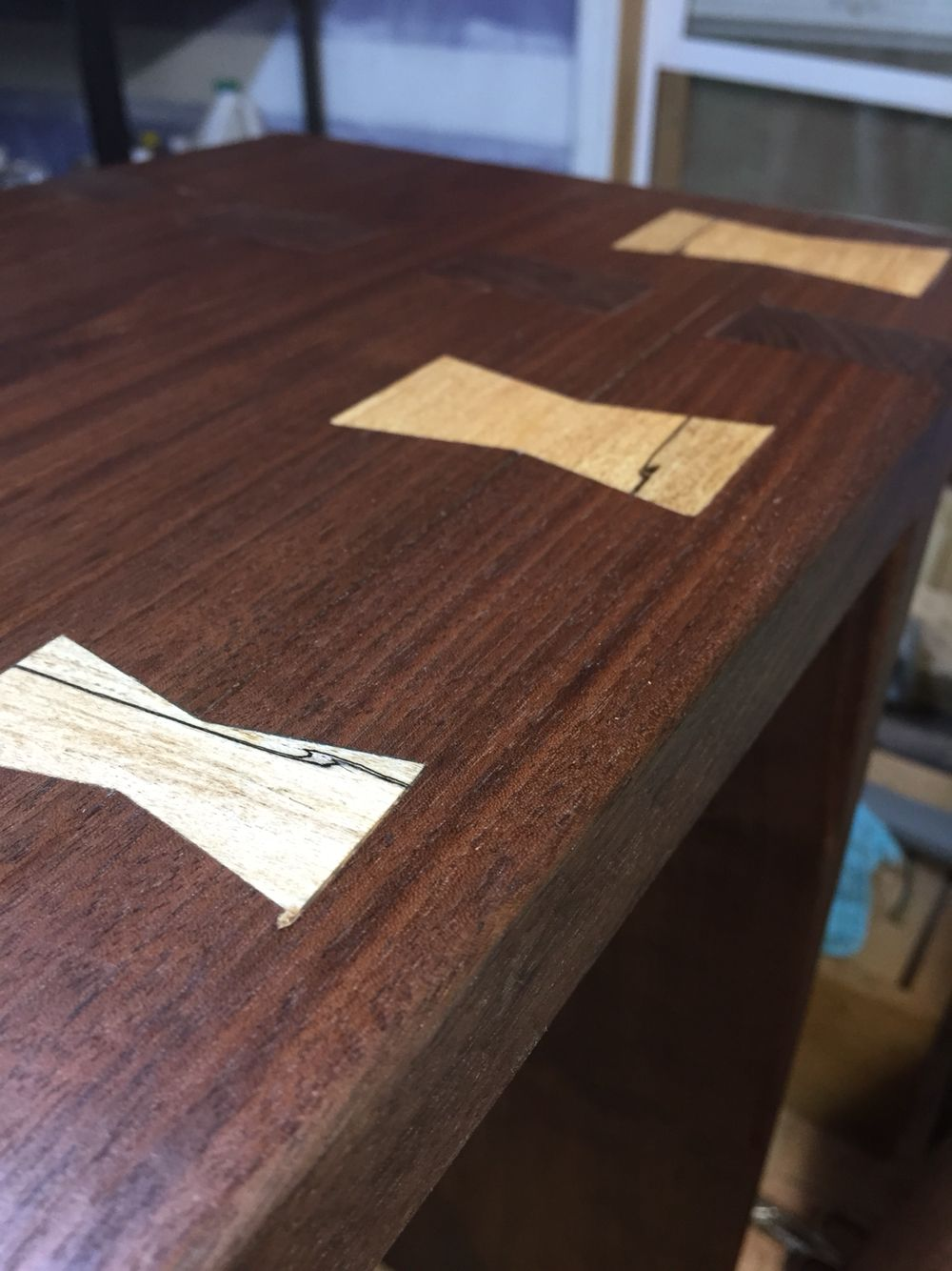 Fantastic Black Walnut Mortise And Tenon Bench With Spalted Maple Machost Co Dining Chair Design Ideas Machostcouk