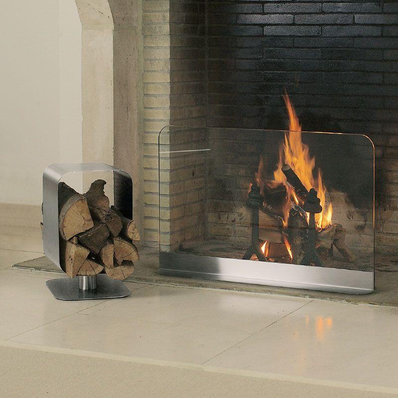 Andre Gilli Fireplace Log Holder Cube Fireplace Fireplace