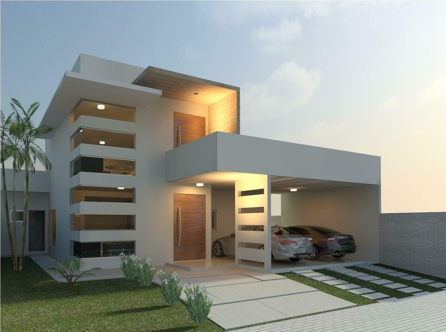 27 Modelos de Frentes de casas simples e modernas | Architecture ...
