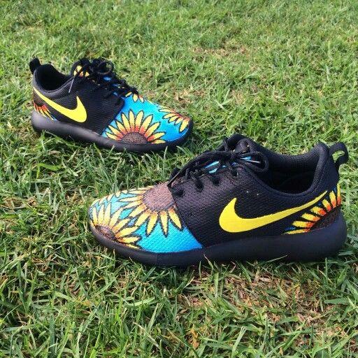db1a76852 Nike Roshe Run custom - sunflower