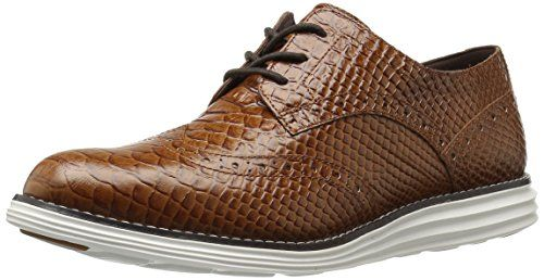 Cole Haan Women's Original Grand Wingtip Oxford, Woodbury Snake Print  Leather/Optic White, 10 B US - Yes! The Shoe Fits!