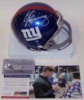Eli Manning Autographed Hand Signed New York Giants Mini Helmet - PSA/DNA