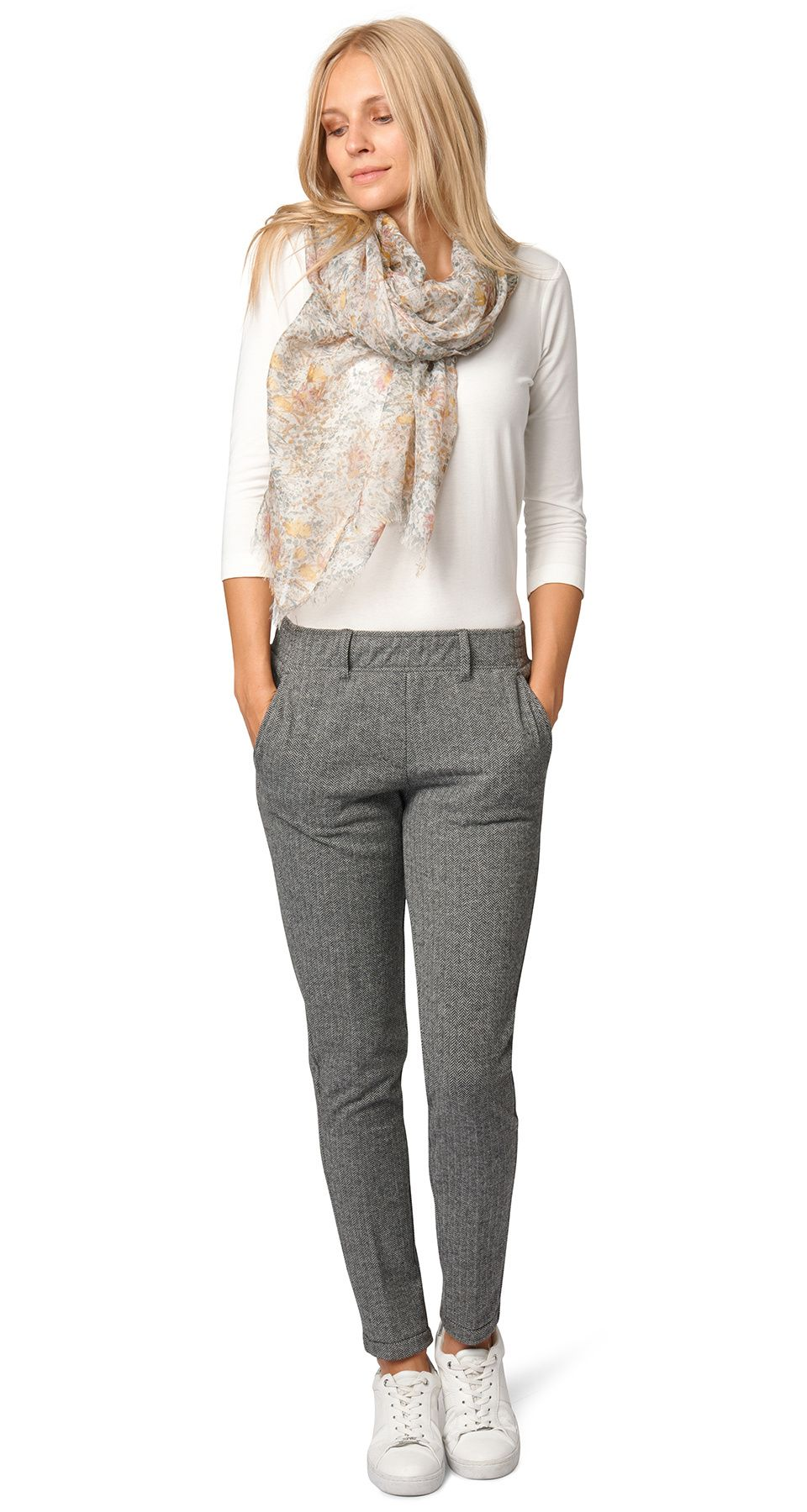 Comfortable Pants With Delicate Pattern For Women Patterned With Elasticated Waistband Tom Tailor Fashion Fashion Online Shop Tom Tailor