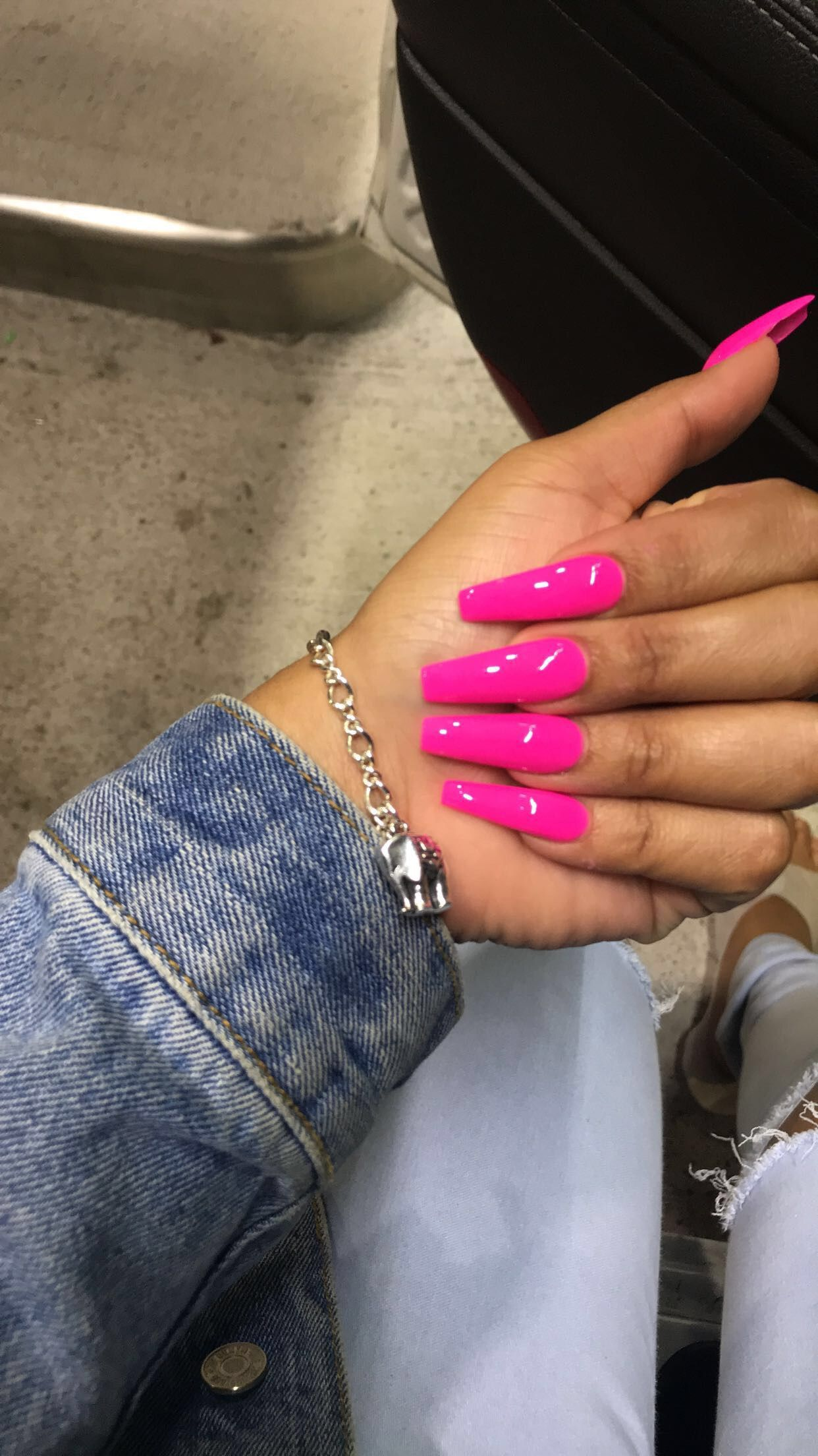 Coffin Nails Barbie Nails Pink Nails Glam Nails Pink Acrylic Nails Pink Nails