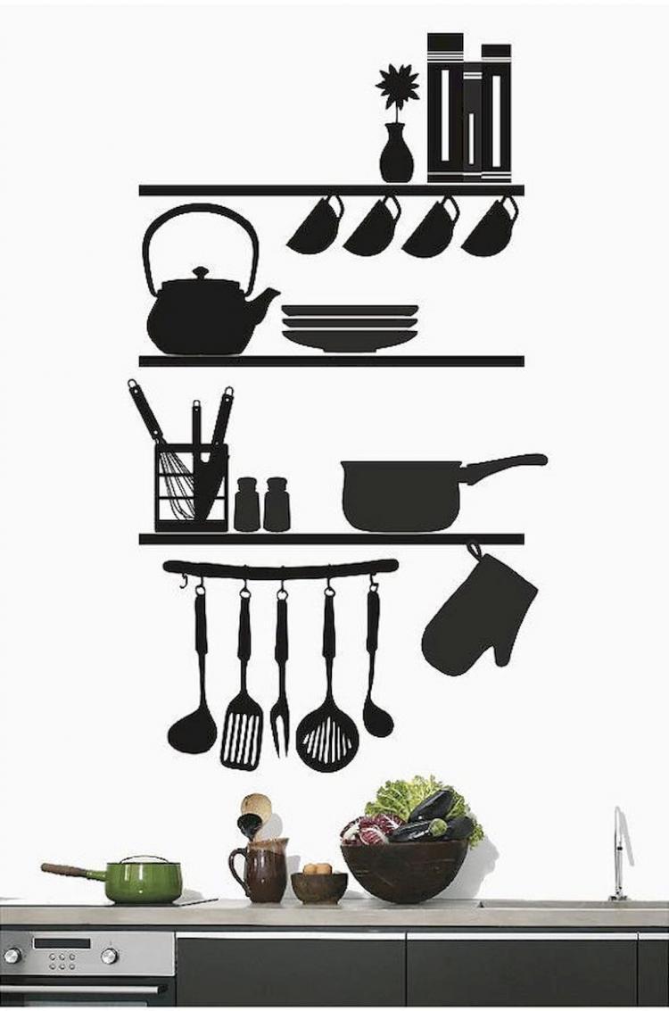 45 Amazing Kitchen Wall Design Ideas Wandtattoo Wandtatoos Dekor