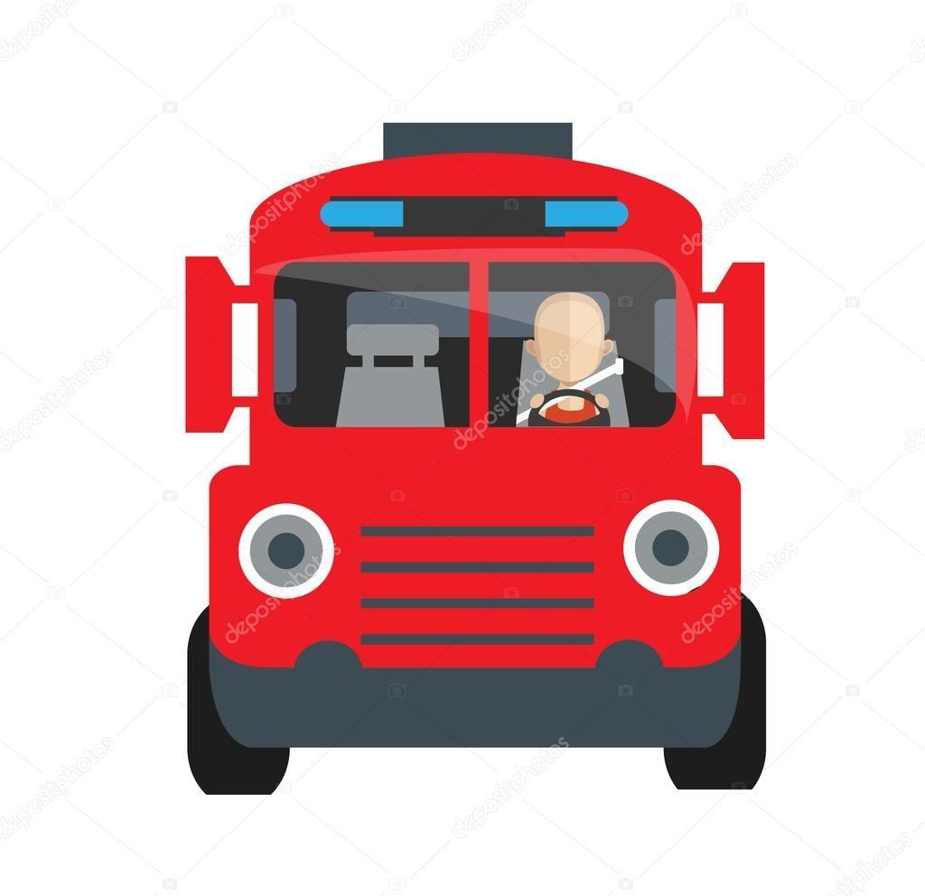 Icono De Dibujos Animados De Coche Camion De Bomberos Ilustracion De Vector Carro De Bomberos Camion De Bomberos Dibujos Animados De Coches