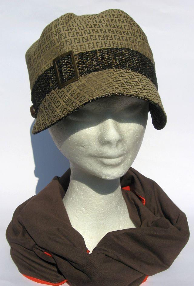 Cappello anni 30 con visiera beige marrone Fendi : Cappelli, berretti di  janecolori-accessoires