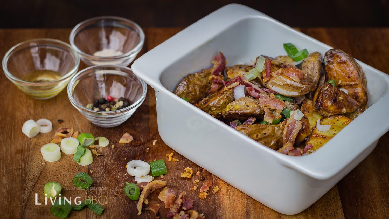 gegrillter kartoffelsalat mit pancetta | rezept | beilagen grillen
