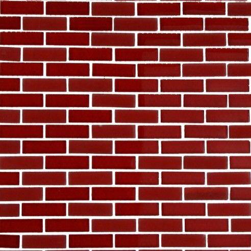 Loft Cherry Red 1 2x2 Brick Pattern Brick Patterns Brick Pattern Tile Pattern Glass