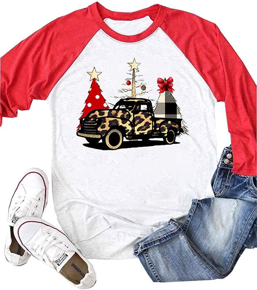 Leopard Printed Car Baseball TShirt Women