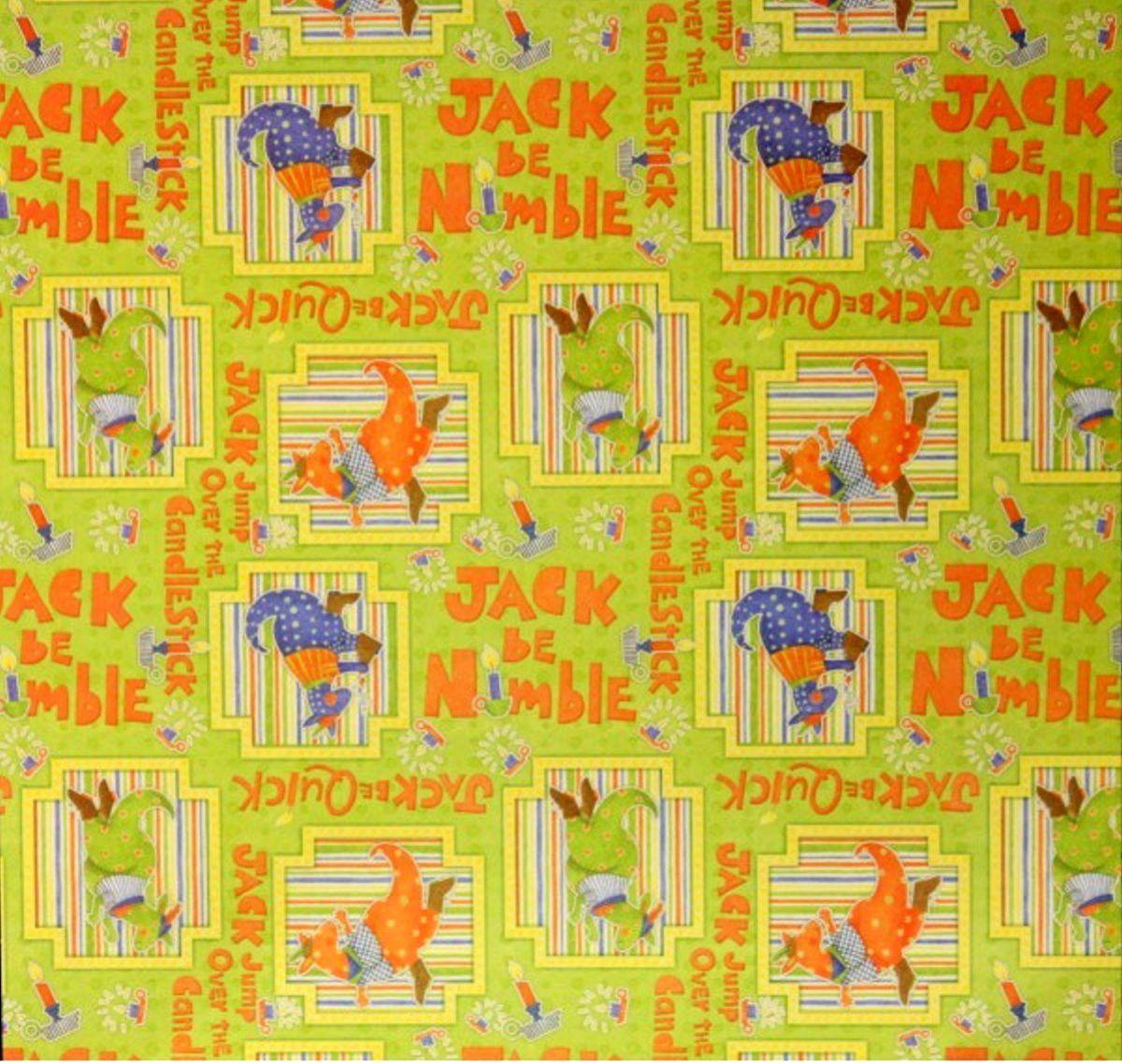 Scrapbook paper cardstock - Dcwv Jack Be Nimble Nursery Rhymes Cardstock Scrapbook Paper