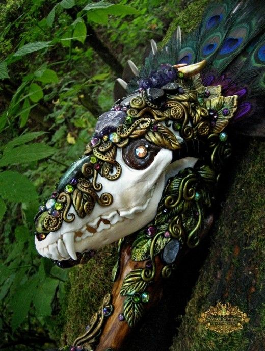 Crafty Things to Do With Animal Skulls | Witch wands